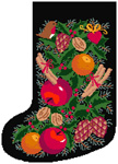 Black Garland Stocking Canvas Only