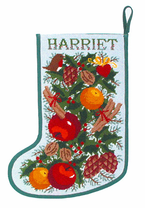 White Garland Tapestry Stocking