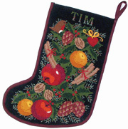 Black Garland Stocking