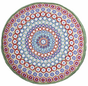 Green Millefiori Round cushion