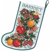 White Garland Stocking
