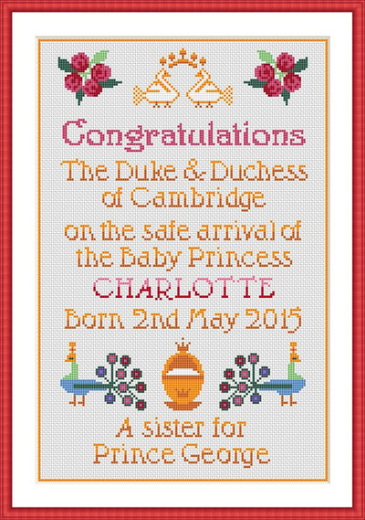 Princess Charlotte Cross Stitch