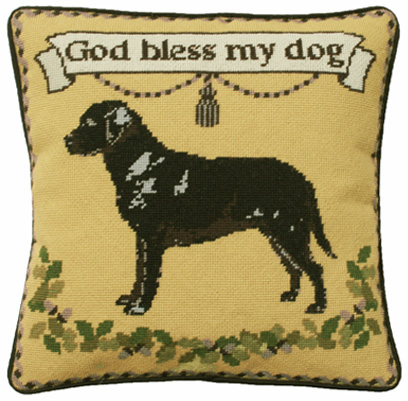 Black Labrador Charted Tapestry Kit