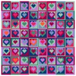 Mosaic Hearts Tapestry Canvas Only