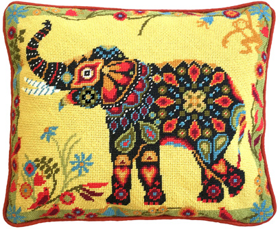 Painted Elephant 12 count Tapestry Kit