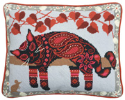 Painted Cat tapestry kit from One Off Needlework