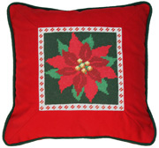 poinsettia 10 count tapestry needlepoint kit