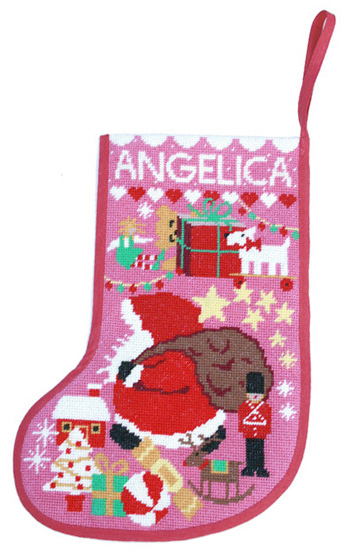 Pink Starry Stocking