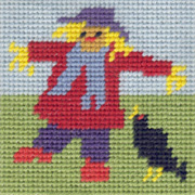 Mini Scarecrow starter tapestry kit