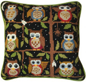 Night Owls 10 count tapestry kit